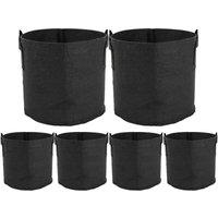 Bearsu - 6 Pieces Planting Bag Non-woven Plant Bags Aeration Fabric Breathable Pots Bag with Handles for Home Garden V8020 (10 Gallon)