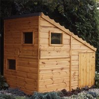 6 x 4 (1.79m X 1.19m) - Wooden Command Post Playhouse