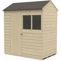 6 x 4 Forest Overlap Pressure Treated Reverse Apex Wooden Shed