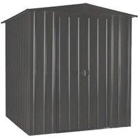 6 x 4 Premier EasyFix – Apex – Metal Shed - Anthracite Grey (1.84m x 1.23m)