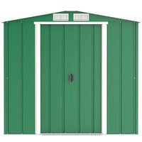 6 x 4 Value Apex Metal Shed - Green (2.01m x 1.22m)