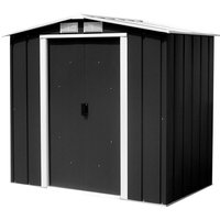 6 x 6 Value Apex Metal Shed - Anthracite Grey (2.02m x 1.82m)
