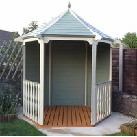 Oakham Arbours(s) - 6 x 7 Tongue And Groove Wooden Arbour - 12mm Tongue And Groove Floor And Roof - Pressure Treated
