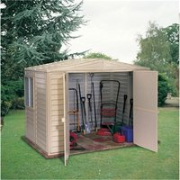 6 x 8 Deluxe Duramax Plastic PVC Shed With Steel Frame (1.60m x 2.39m) - SALFORD PLASTIC SHEDS
