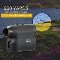600M / 900M Golf Laser Rangefinder Laser Distance Meter Speed Tester Laser Range Finder Digital Hunting Measurement Monocular Telescope,model:Black