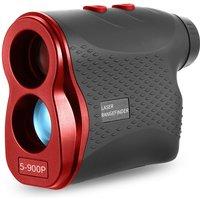 600M / 900M Golf Laser Rangefinder Laser Distance Meter Speed Tester Laser Range Finder Digital Hunting Measurement Monocular Telescope,model:Red 900m