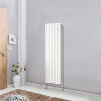 Designer Radiator Oval Column Central Heating Rads White Vertical 1600x590mm Double