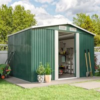 6ft x 8ft Metal Garden Shed Outdoor Tool shed - Green