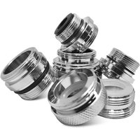 6Pcs Brass Tap Adapters Multiple Size Kitchen Tap Adapter Garden Hose Connector,model: 6Pcs