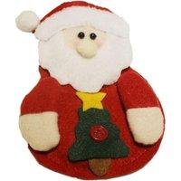 6pcs Christmas Kitchen Cutlery Pocket Set Silverware Holders Pocket Xmas Party Dinner Table Decoration - Santa Claus