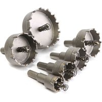 Augienb - 6pcs Drill Hole Saw Hole Drill Bit Alloy Stainless Steel 22 - 65mm