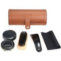 6PCS Shoe Polish Care Kit Leather Shoe Shine Set, Brown