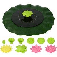 6V 1W Solar Fountain Lotus Leaf Shape Floating Fountains