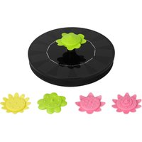 6V 1W Solar Fountain with 5 Flower Type Nozzles Solar Powered Bird Bath Floating Fountains Free Standing Outdoor Fountain Brushless Water Pump for