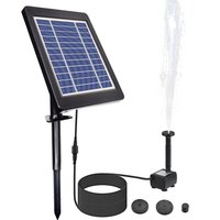 6V/3.5W Solar Powered Fountain Pump Water Pump with Adjustable Solar Panel DIY Birdbath Fountain - ASUPERMALL