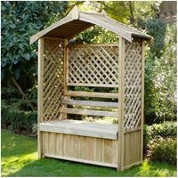 6x2 (1.8x0.6m) Forest Cotswold Arbour - FOREST GARDEN