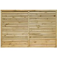 Rowlinson - 6X4 Cheshire Contemporary Screen - 3 Pack