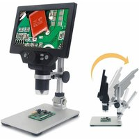 7 1000X HD LCD Professional Electronic Digital Video Monitor LED Microscope G1200 Magnifier (UK Plug)