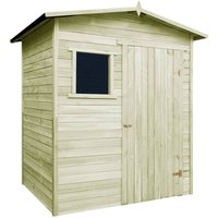 7 ft. W x 5 ft. D Apex Wooden Shed by WFX Utility - Multicolour