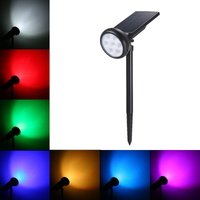 7 LEDs Solar Powered Lawn Light 7 Color Spotlights Outdoor IP55 Waterproof Wireless - ASUPERMALL