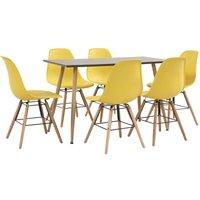 Zqyrlar - 7 Piece Dining Set Plastic Yellow - Yellow