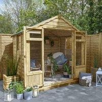 7 x 5 Forest Oakley Wooden Garden Summerhouse (2.3m x 1.5m)