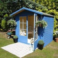 Shire - Lumley Shiplap Summerhouse Garden Sun Room Approx 7 x 5 Feet