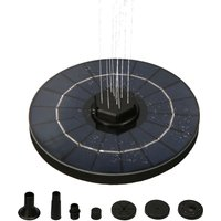 7.4V storage solar floating fountain water pump, water shortage protection, filter function