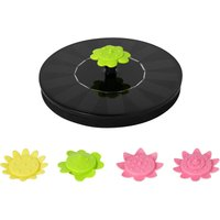 7V 1.4W Solar Fountain with 5 Flower Type Nozzles Solar Powered Bird Bath Floating Fountains Free Standing Outdoor Fountain Brushless Water Pump for