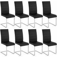 8 dining chairs rocking chairs - dining room chairs, kitchen chairs, dining table chairs - black - schwarz - TECTAKE