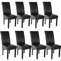 8 Dining chairs with ergonomic seat shape - dining room chairs, kitchen chairs, dining table chairs - black