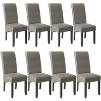 Tectake - 8 Dining chairs with ergonomic seat shape - dining room chairs, kitchen chairs, dining table chairs - gray marbled