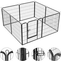 8 Panel Pet Playpen Puppy Dog Cat Rabbit Portable Cage Run Pen Folding Fence