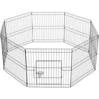 8 Panel Puppy Pen Pet Dog Exercise Playpen Rabbit Fence Enclosures Run Cage - YAHEETECH