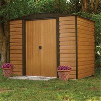 Cheshire Metal Sheds(r) - 8 x 6 Deluxe Woodvale Metal Shed (2.53m x 1.81m) - Includes Floor
