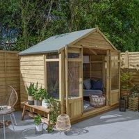 8 x 6 Forest Oakley Wooden Garden Summerhouse (2.6m x 1.8m)