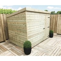 Marlborough(bs) - 8 x 7 Windowless Pressure Treated Tongue And Groove Pent Shed With Single Door