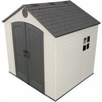 Salford Plastic Sheds - 8 x 7.5 Life Plus Plastic Apex Shed With Plastic Floor + 1 Window (2.43m x 2.28m)