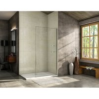 900mm Walk in Shower Screen Wet Room,Glass shelves included + 1000x700mm Tray Waste
