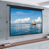 72 Electric Pull-Down Projector Screen 4:3 White Matte Home Cinema