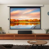 120 Electric Pull-Down Projector Screen 4:3 White Matte Home Cinema