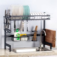 85cm Dish Drainer Stainless Steel 304 Drainer Holder Organizer Multi-purpose Sink