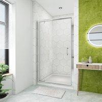 860mm Pivot Hinge Shower Door 6mm Safety Glass Shower Enclosure Cubicle