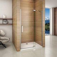 80x195cm 8mm NANO Glass Frameless Pivot Shower Enclosure Door Screen with 80x80cm shower tray - Aica