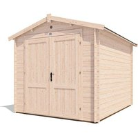 8x10 Shed Petrus - Wooden Garden Cabin Style Shed Heavy Duty Secure Workshop Tool Storage Roof Felt Included - DUNSTER HOUSE LTD.