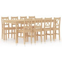 Youthup - 9 Piece Dining Set Pinewood