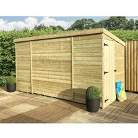9 x 5 Windowless Pressure Treated Tongue And Groove Pent Shed With Side Door - MARLBOROUGH (BS)
