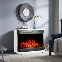 900W/1800W Electric Fireplace 3 LED Flame Timer Heater with Remote Control