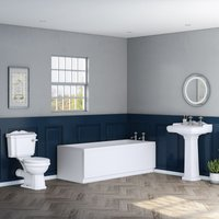Abbey Traditional Bathroom Suite with 1700mm Bath - AQUARISS