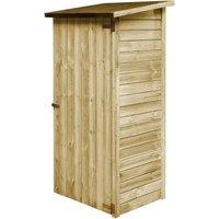 Abri à outils de jardin Bois de pin imprégné 88 x 76 x 175 cm